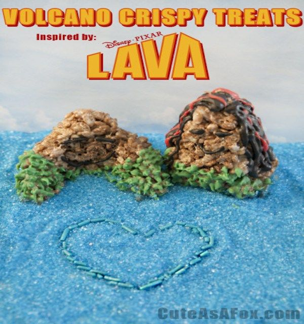 Volcano Crispy Treats | Volcano, Lava, Treats