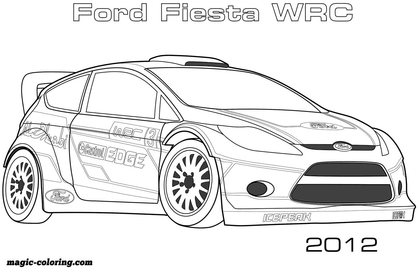 2012 Ford Fiesta Wrc Coloring Page Race Car Coloring Pages Cars Coloring Pages Coloring Pages
