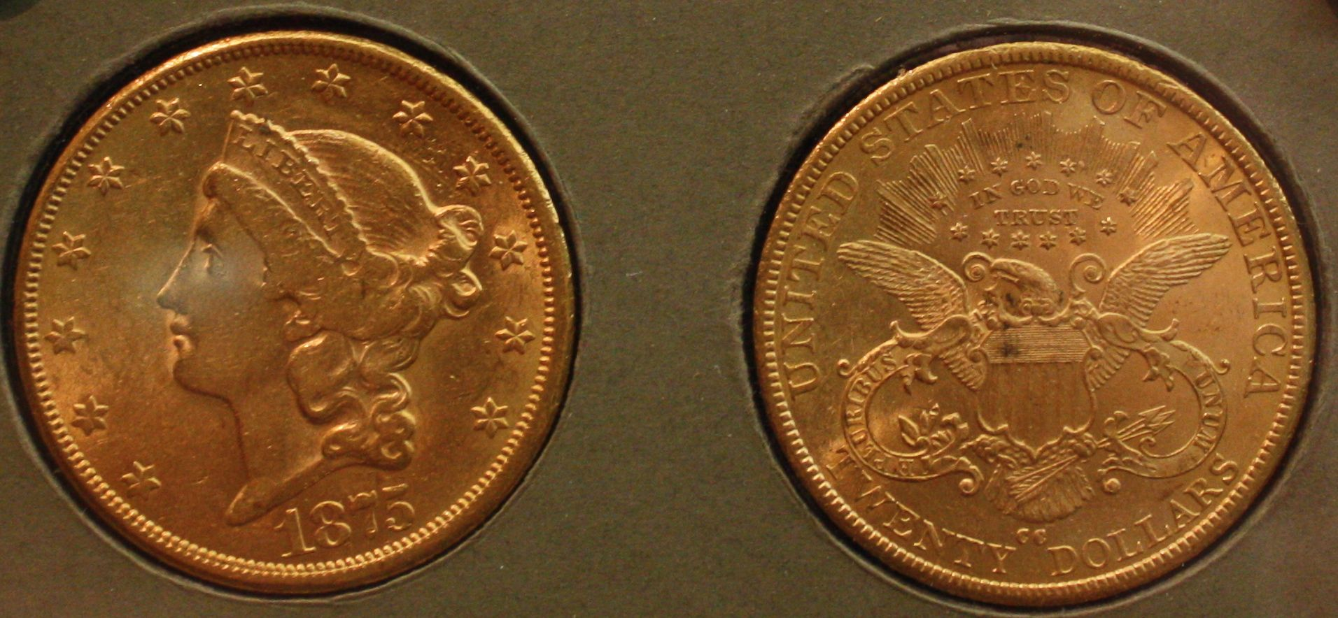 1875 Cc Double Eagle Struck At The Carson City Mint With Images Eagle Coin