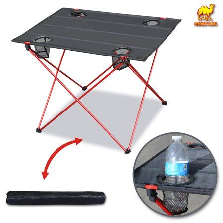 Strong Camel Portable Camping Table W Cup Holders Ultra