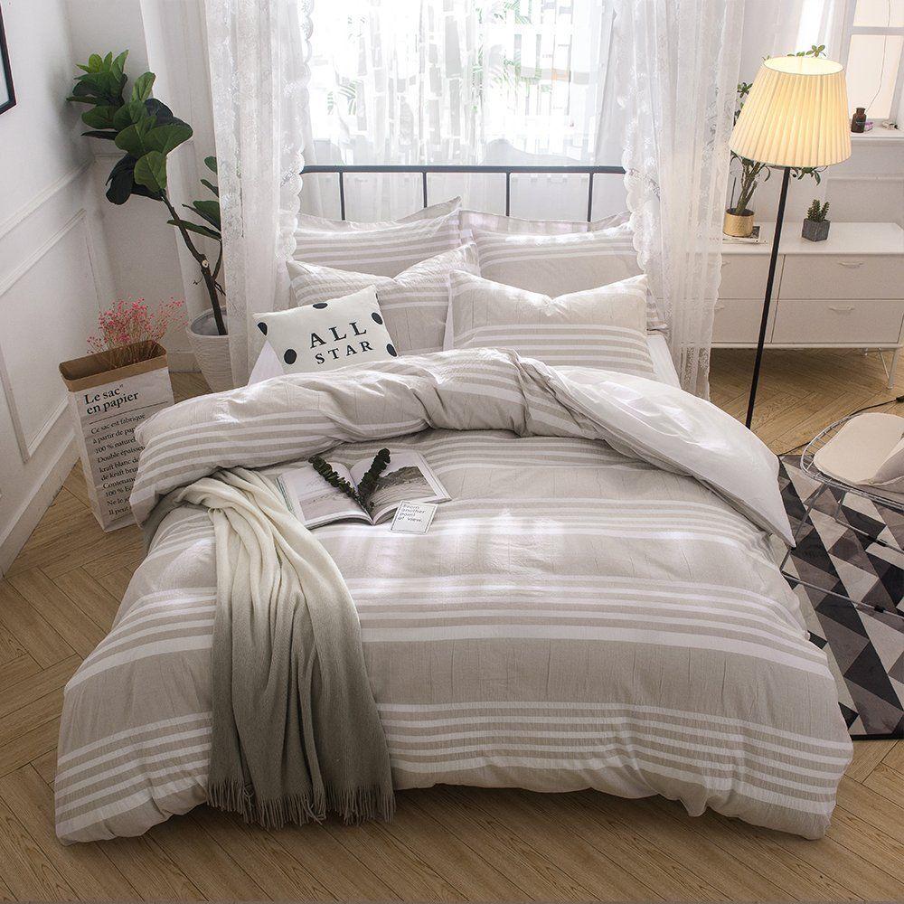 Lausonhouse 100 cotton yarn dyed Duvet Cover