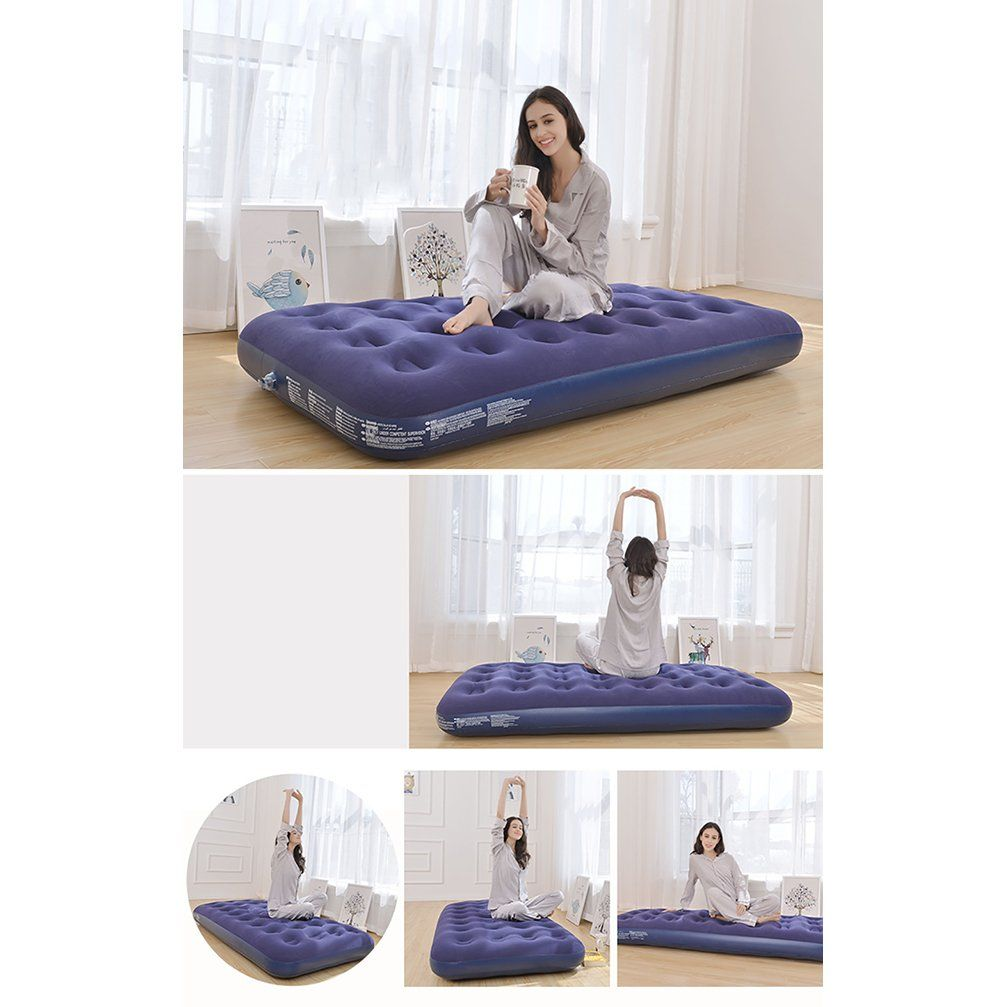 Missblue Air Mattress Inflatable Airbed With Electric Pumpcamping
