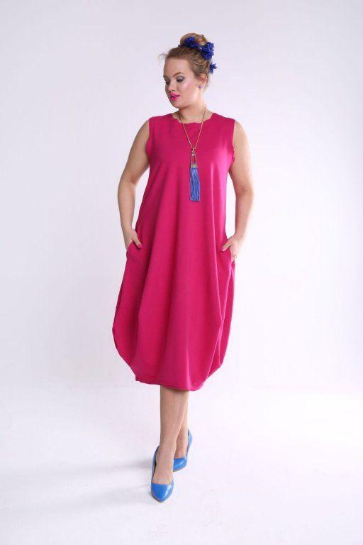 Inna Ty Sukienka Muminek Oversize Plus Size Fuksja 6158188573 Oficjalne Archiwum Allegro Cold Shoulder Dress Dresses Summer Dresses