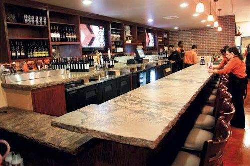 Carrera marble bartop