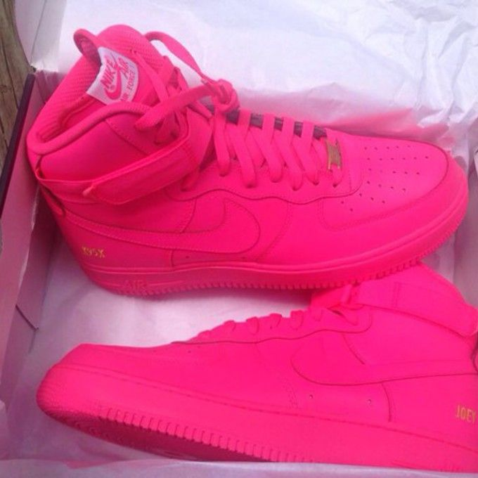 e2ce8e3f266 Hot pink air force 1 nike shoes neon neon