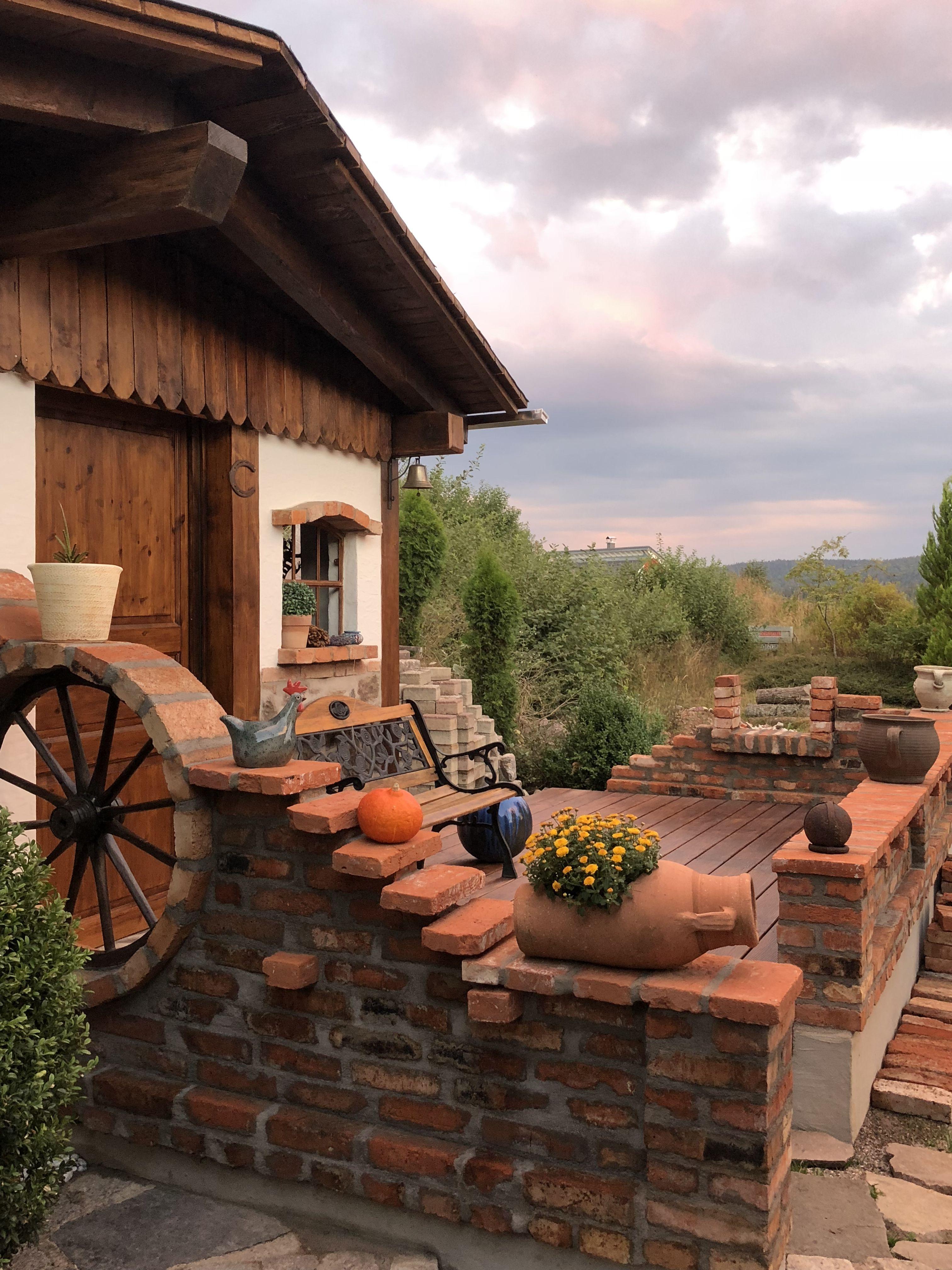 Kreative gartenhausgestaltung gr din pinterest for Jardineria al aire libre casa pendiente