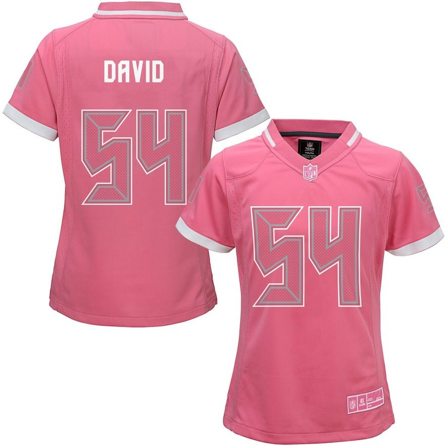 Girls Youth Lavonte David Pink Tampa Bay Buccaneers Bubble
