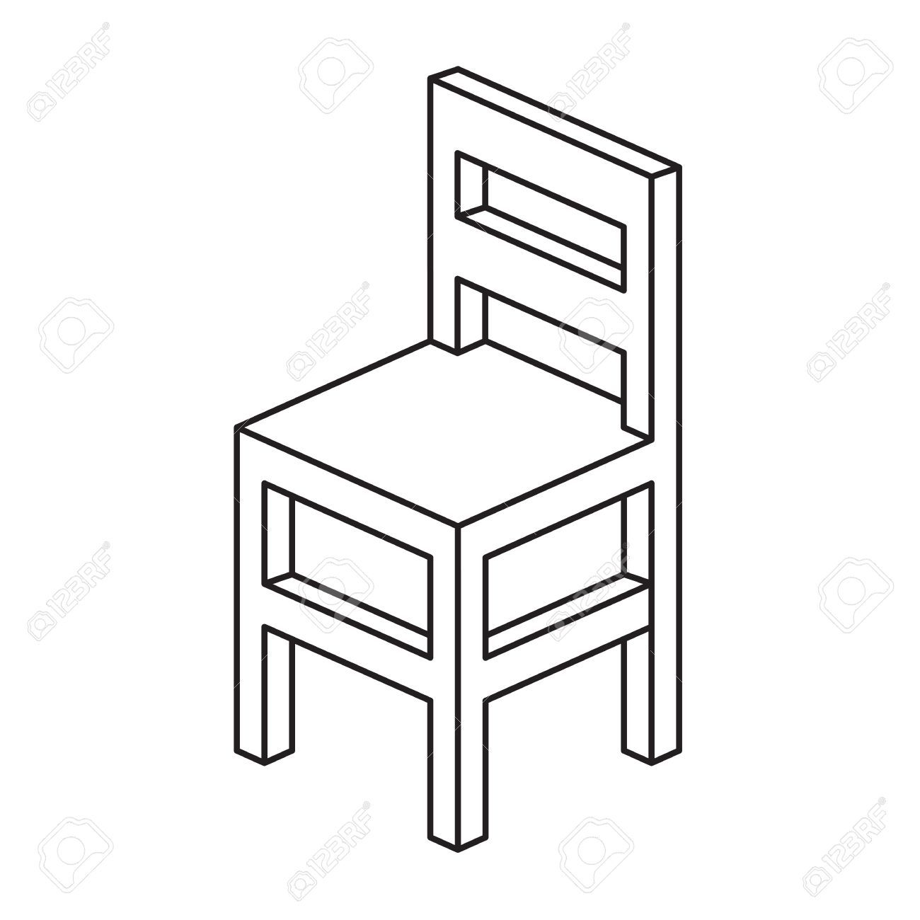 Chair Outline Illustration Royalty Free Chair Drawing Chair House Design Photos