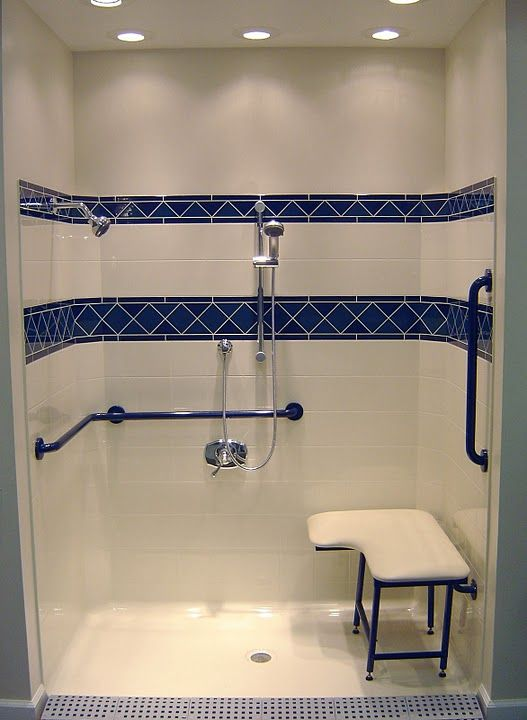 Commercial Ada Shower Stalls Handicap Accessible Showers With