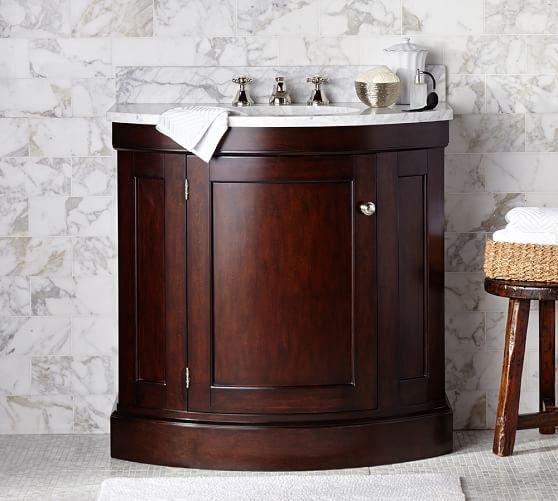 Brinkley Demilune Single Sink Console Espresso Finish Pottery Barn