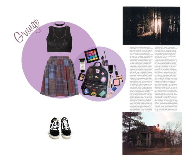 """""""Grunge"""" by silly-stegosaurus ❤ liked on Polyvore featuring WallPops, Topshop, Vans, Calvin Klein Collection, Chicnova Fashion, NYX, tarte, Nails Inc., Urban Decay and Rimmel"""