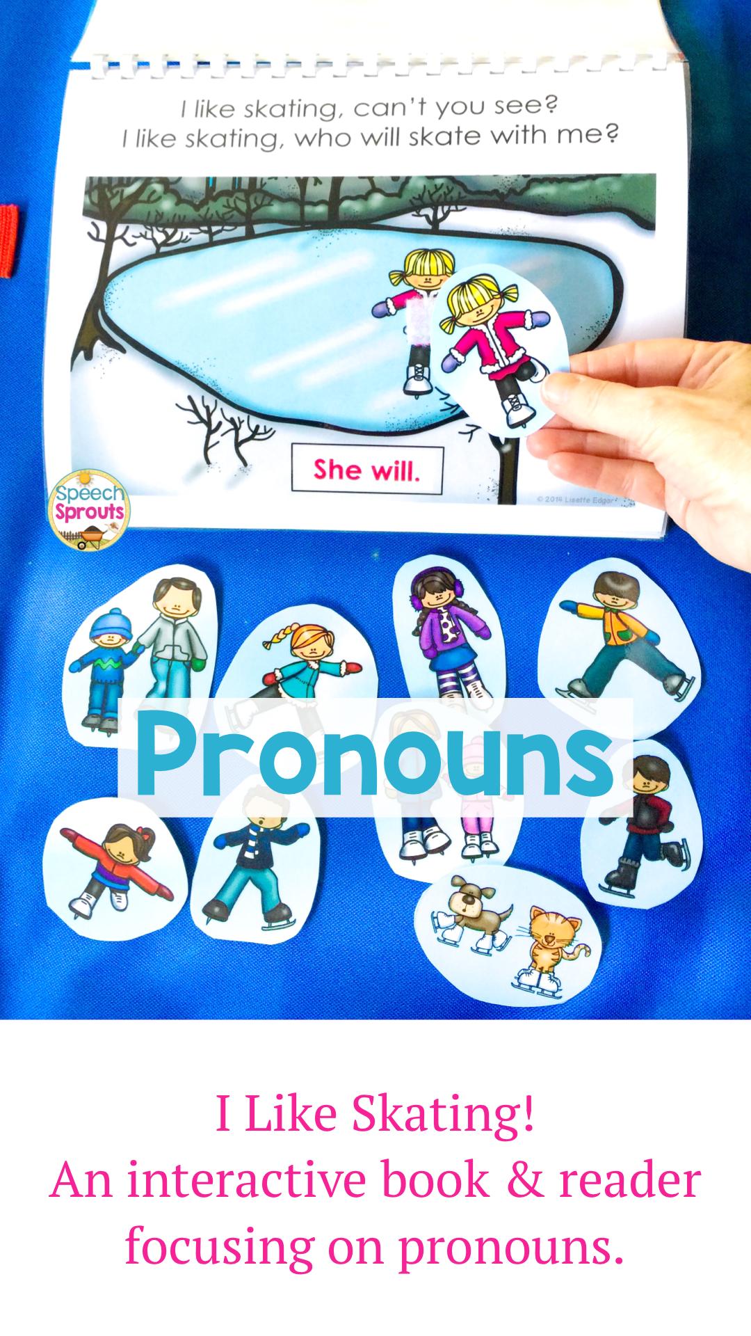 Winter Pronouns Interactive Book For Preschool In