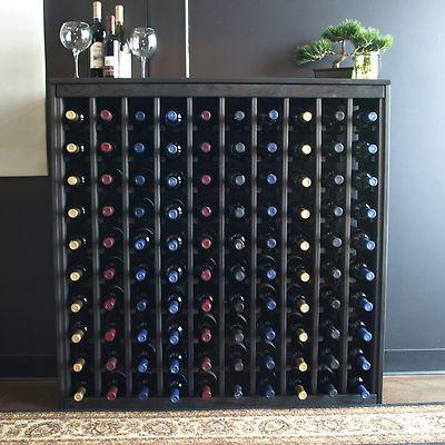 100 Bottle Cabinet Wine Rack Furniture Pine Wine Storage Kit With Black Stain Wine Rack Furniture Wine Cabinets Wine Rack
