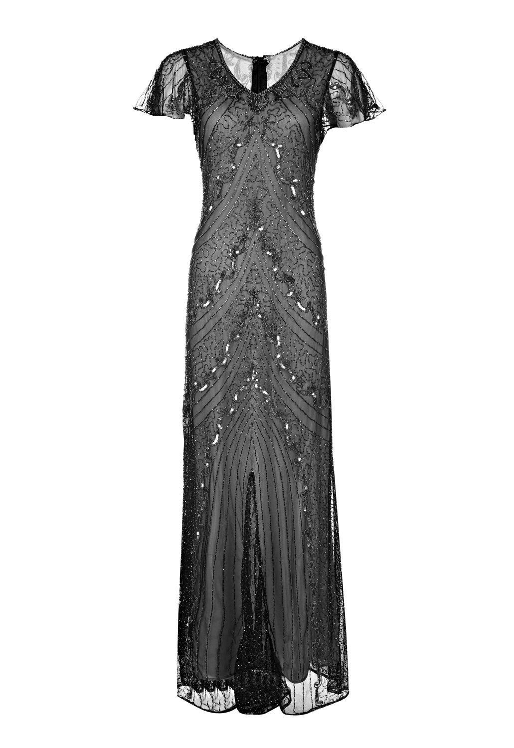 Angela, Grey Beaded Flapper Dress, 1920s Great Gatsby Style, Roaring ...