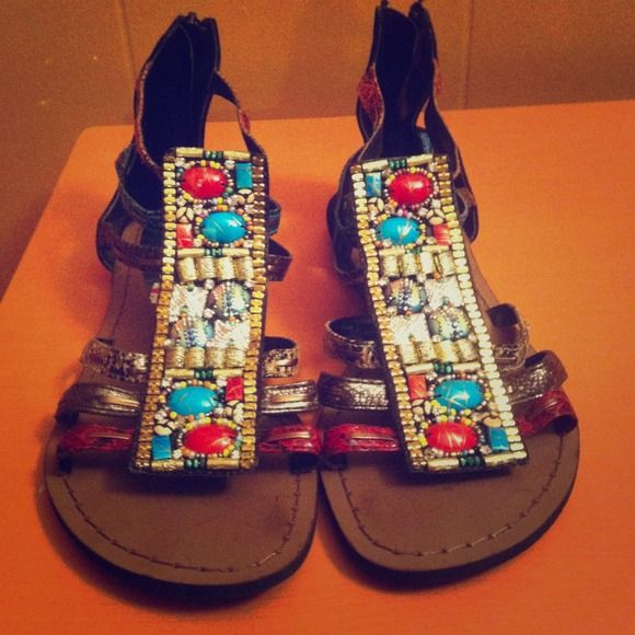 I just added this to my closet on Poshmark: Funky Rock Gladiators!. Price: $27 Size: 8