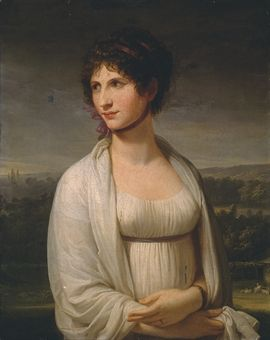 "[Portrait believed to be of Josephine, painted by  Appiani during her first voyage to Italy.] I've had very interesting comments on this blog from a reader in Russia, concerning Josephine. ""La Rein..."