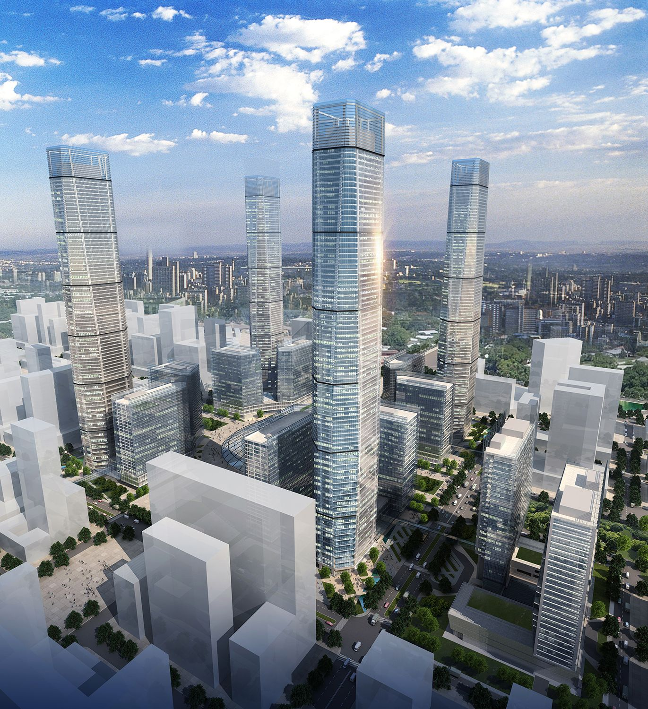 HOK Tall Buildings Building, Urban design plan, Tower design