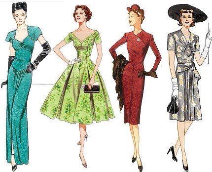 Ropa Vintage Mujer Vintage Vogue Patterns Vintage Outfits Fashion Illustration Vintage