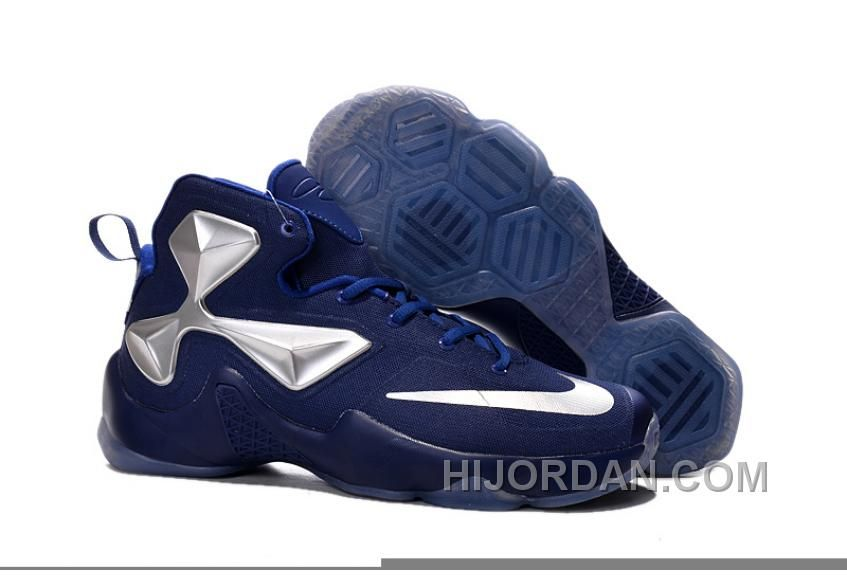 c7c3f8df856 Nike LeBron 13 Blue Silver Grade School Shoes New Style S5Ac4