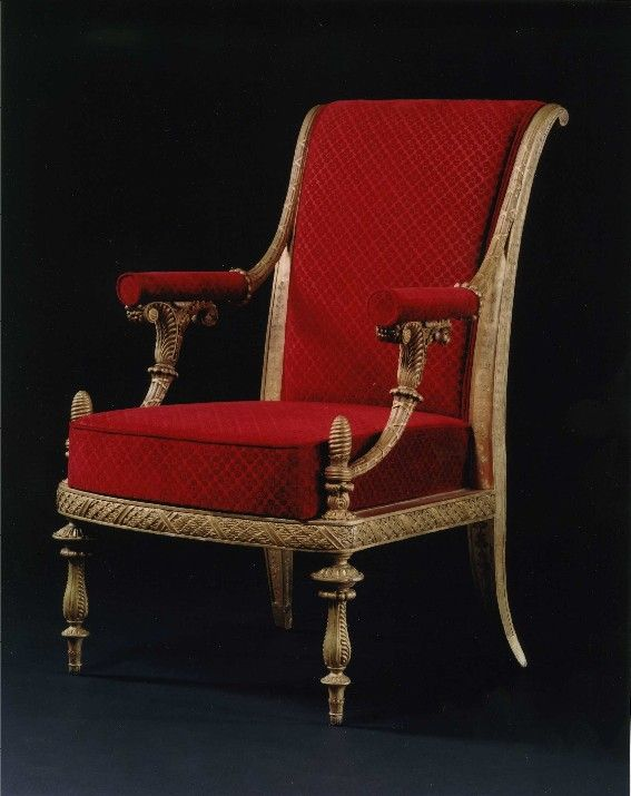 Carlton Hobbs LLC, a pair of armchairs by Josef Danhauser Arch Duke Karl's Palace. 19th century.
