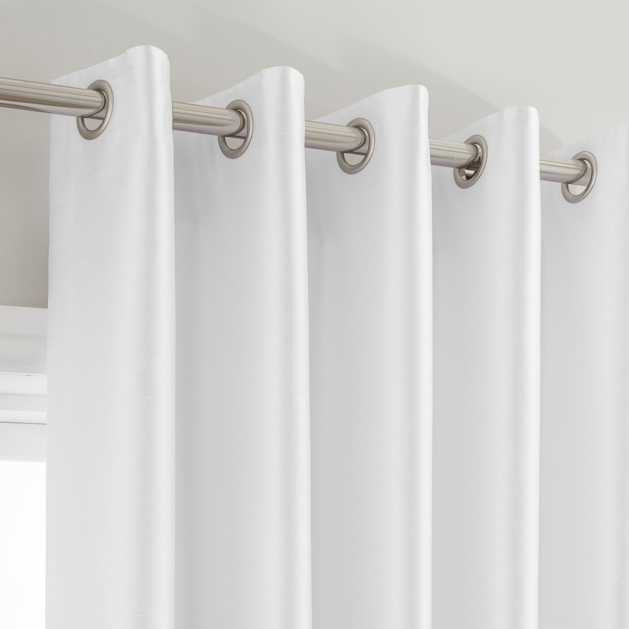 Montana White Lined Eyelet Curtains White Eyelet Curtains Curtains Types Of Curtains