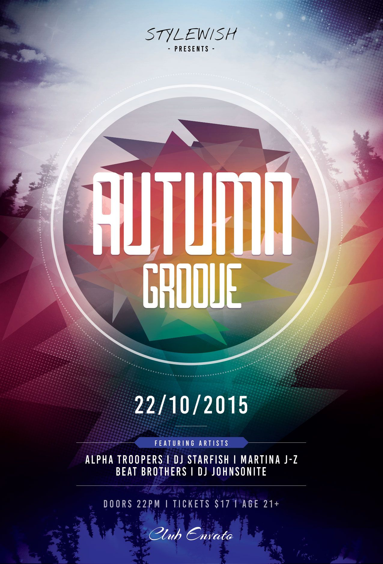 Autumn Groove Flyer Template  Download PSD file / $6 | Party