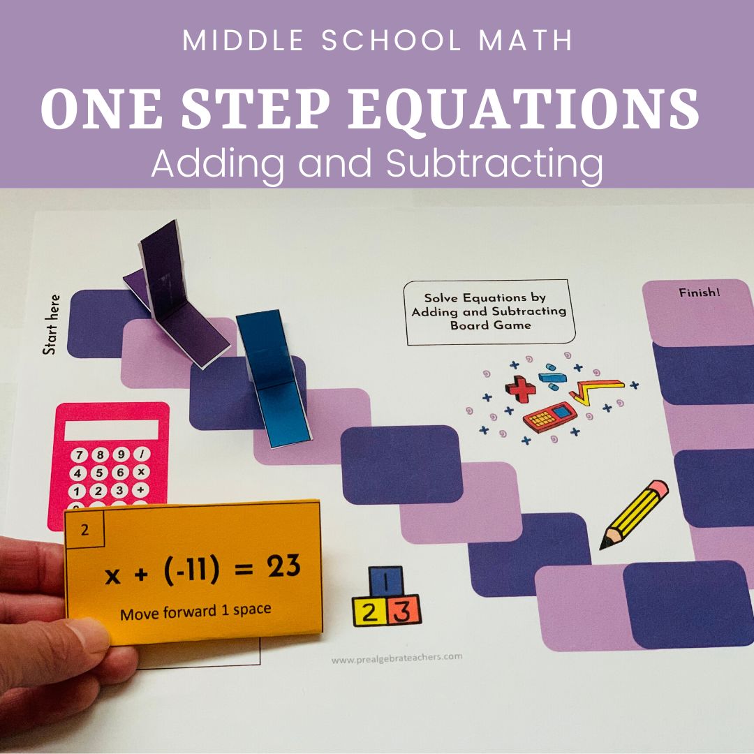 How To Teach One Step Equations By Adding And Subtracting