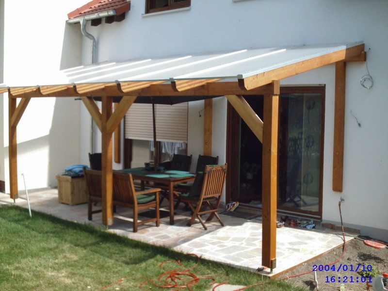 Glued laminated timber decking canopy 3 : wooden garden canopy - memphite.com