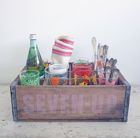 Like the idea of using this to store cutlery and glasses.