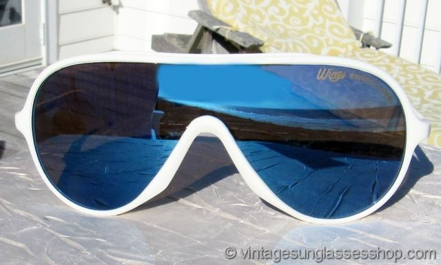 411201dcdcb8d Bausch   Lomb Ray-Ban Wings White Blue Mirror Sunglasses ...