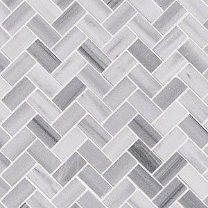 12 X 12 Bergamo Herringbone Polished Decorative Tile Builders Surplus Marble Mosaic Tile Backsplash Marble Mosaic Tiles White Marble Countertops