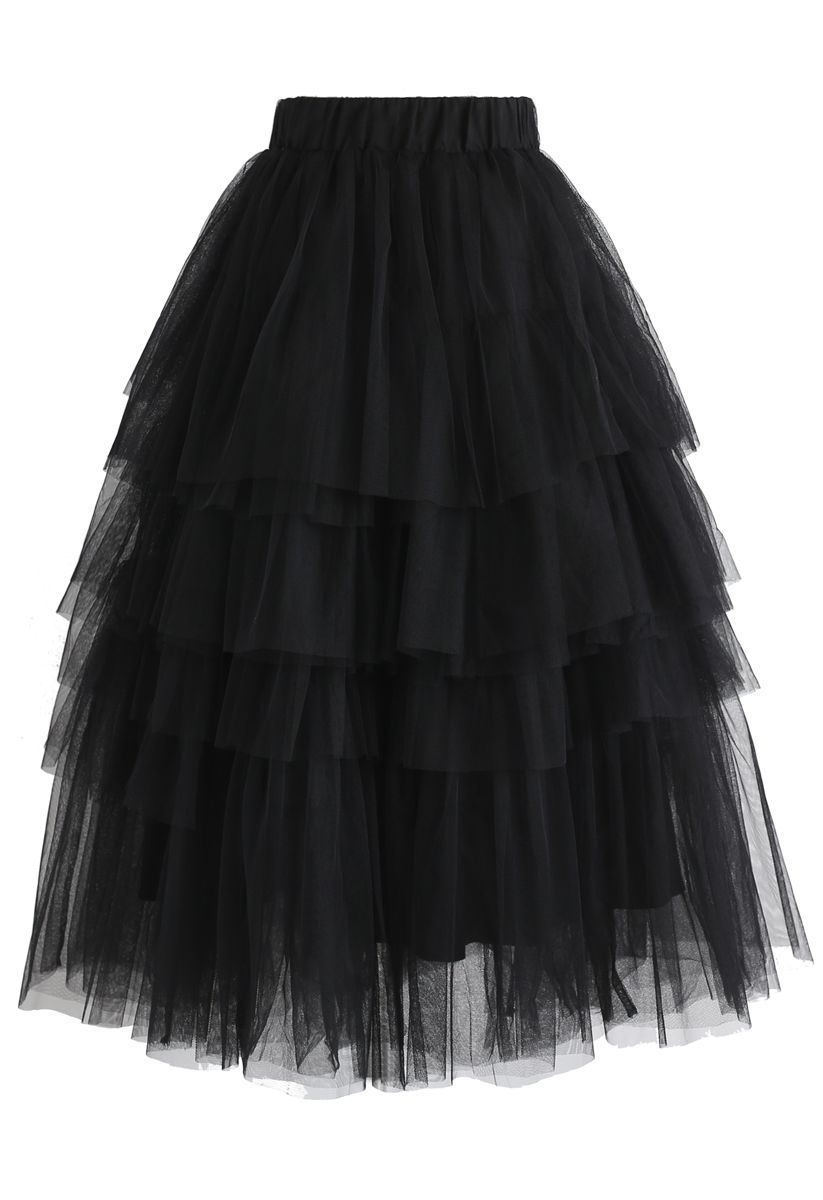 Love Me More Layered Tulle Skirt In Black In 2021 Tulle Skirts Outfit Tulle Skirt Plus Size Skirt Fashion [ 1200 x 823 Pixel ]