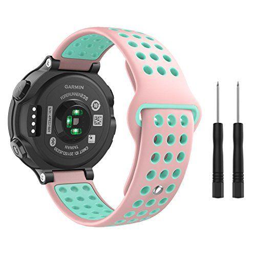 024121091620a7 MoKo Garmin Forerunner 235 Watch Band Soft Silicone Replacement Watch Band  for Garmin Forerunner 235/