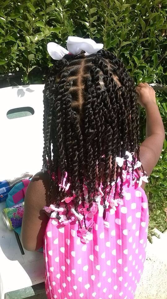 Twists Little Girl Hairstyle With Images Kids Hairstyles