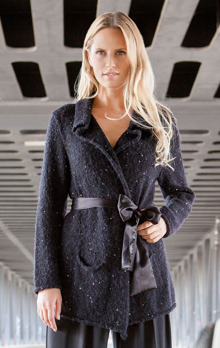 Lana Grossa JACKE Lace Merino/Lace Paillettes - FILATI Handstrick No. 61 - Modell 35 | FILATI.cc WebShop