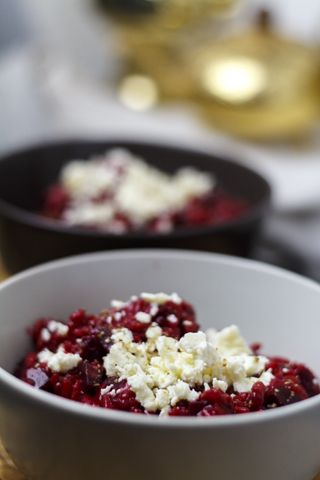 Vegetarisch Rote Bete Risotto Mit Feta Rezept Gesunde Rezepte