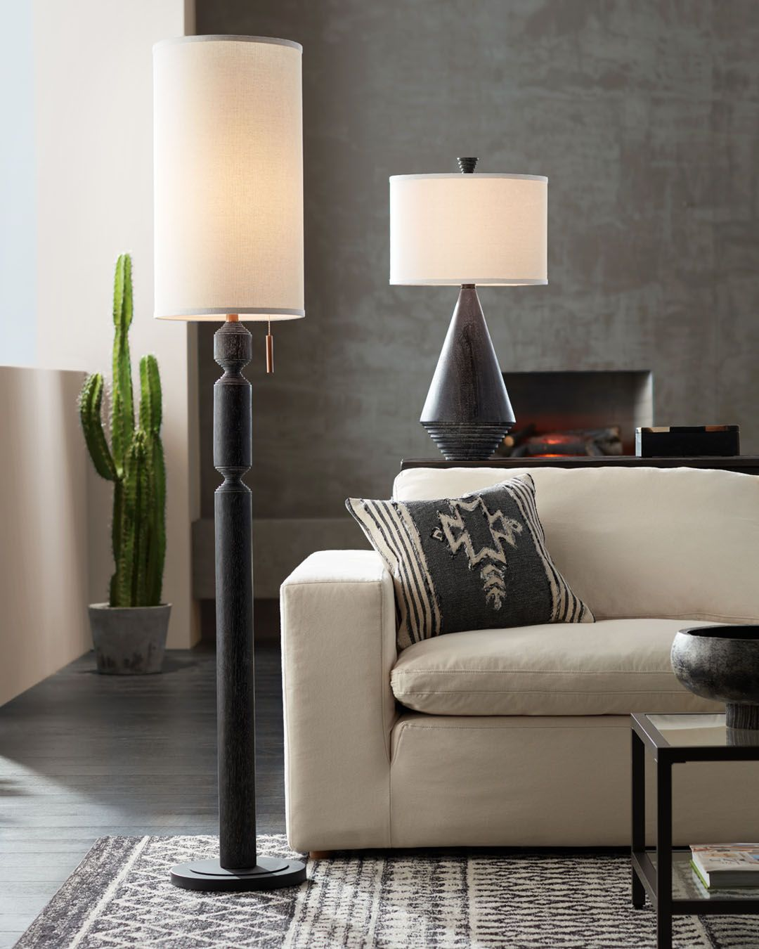 Casual Inspired Lighting That Come In A Matching Table And Floor