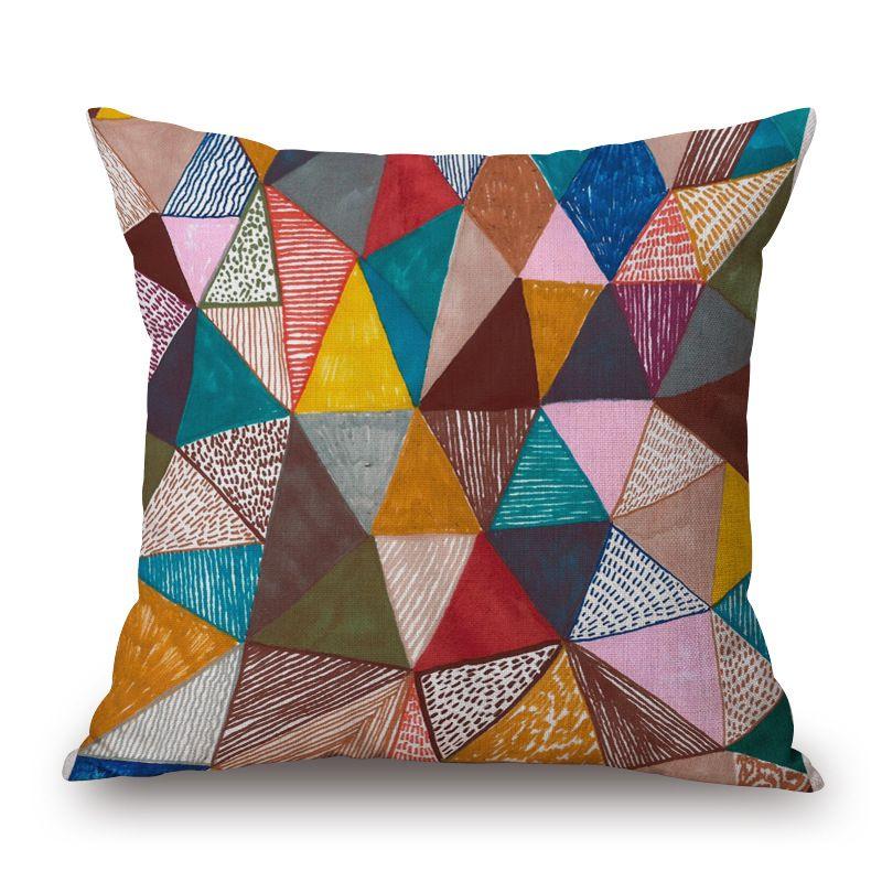 Vibrant Colorful Cushion Pillow Case That Will Add A Beautiful And Attractive Look T Geometric Decorative Pillows Cushion Pillow Covers Geometric Throw Pillows