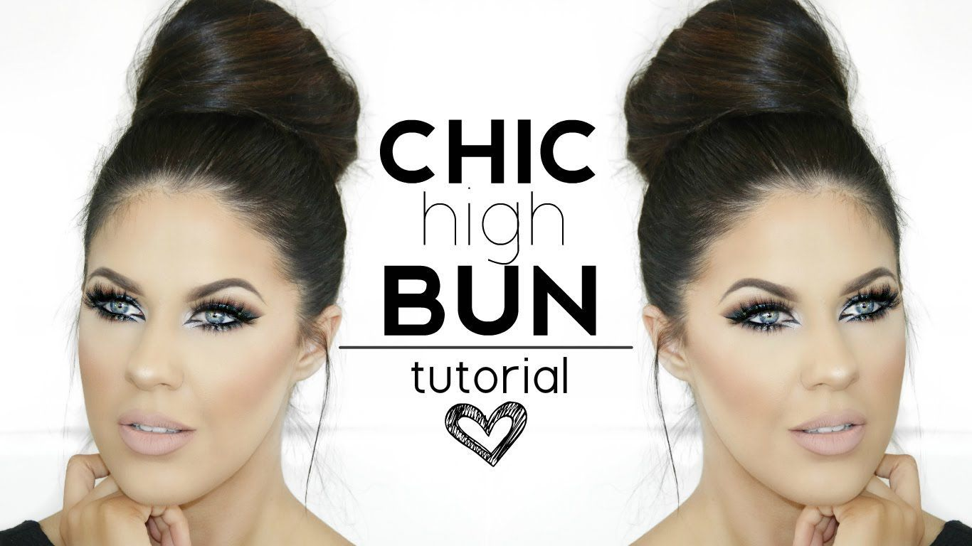 Quick u easy upstyle chic high bun for promweddingspecial event