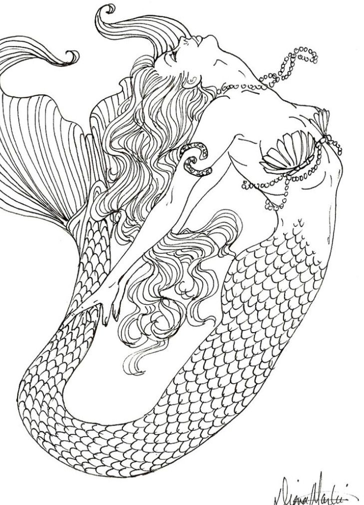 Pin By Edith On Under The Sea Mermaid Coloring Book Mermaid Coloring Pages Realistic Mermaid