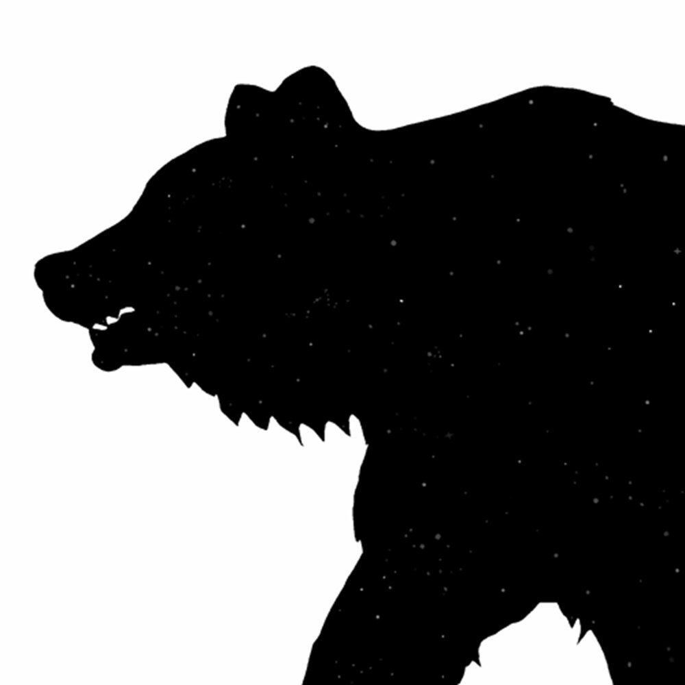 Grizzly Bear Silhouette Vector Clipart Panda Free