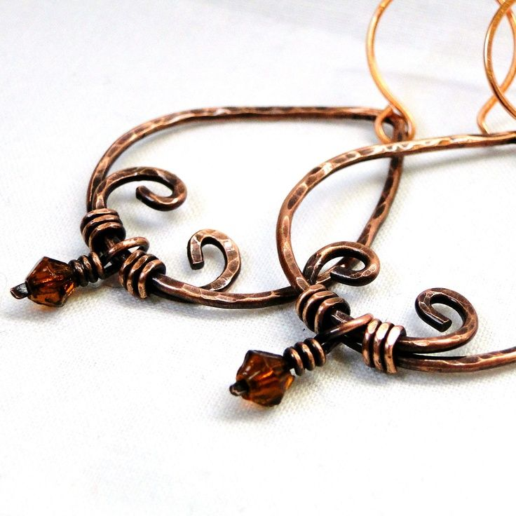 Indian Inspired Jewelry, Hammered Earrings, Wire Wrapped Jewelry ...