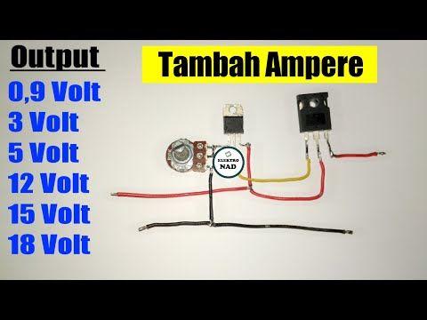 Rangkaian Penurun Tegangan Regulator Lm317 Dengan Tip3055 Youtube Rangkaian Elektronik Teknologi Belajar
