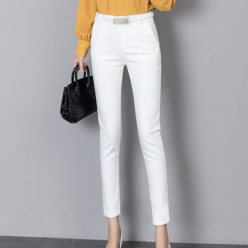 d0675dde782 Summer Women Formal Pants Workwear Autumn Ankle-length Stretch Lady Pencil  Trousers High Waist Capris Slim Bodycon Leggings  weddingdresses  swimsuits  ...