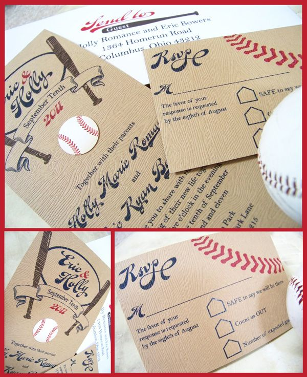 baseball invites love the rsvp - Baseball Wedding Invitations