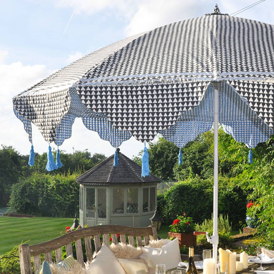 Large Geometric Garden Parasol