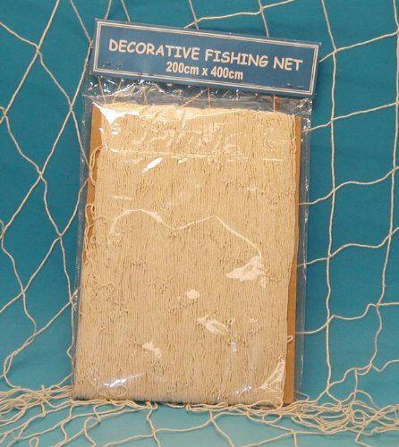 Fischernetz Deko großes deko fischernetz natur 200x400cm dekonetz netz wanddeko