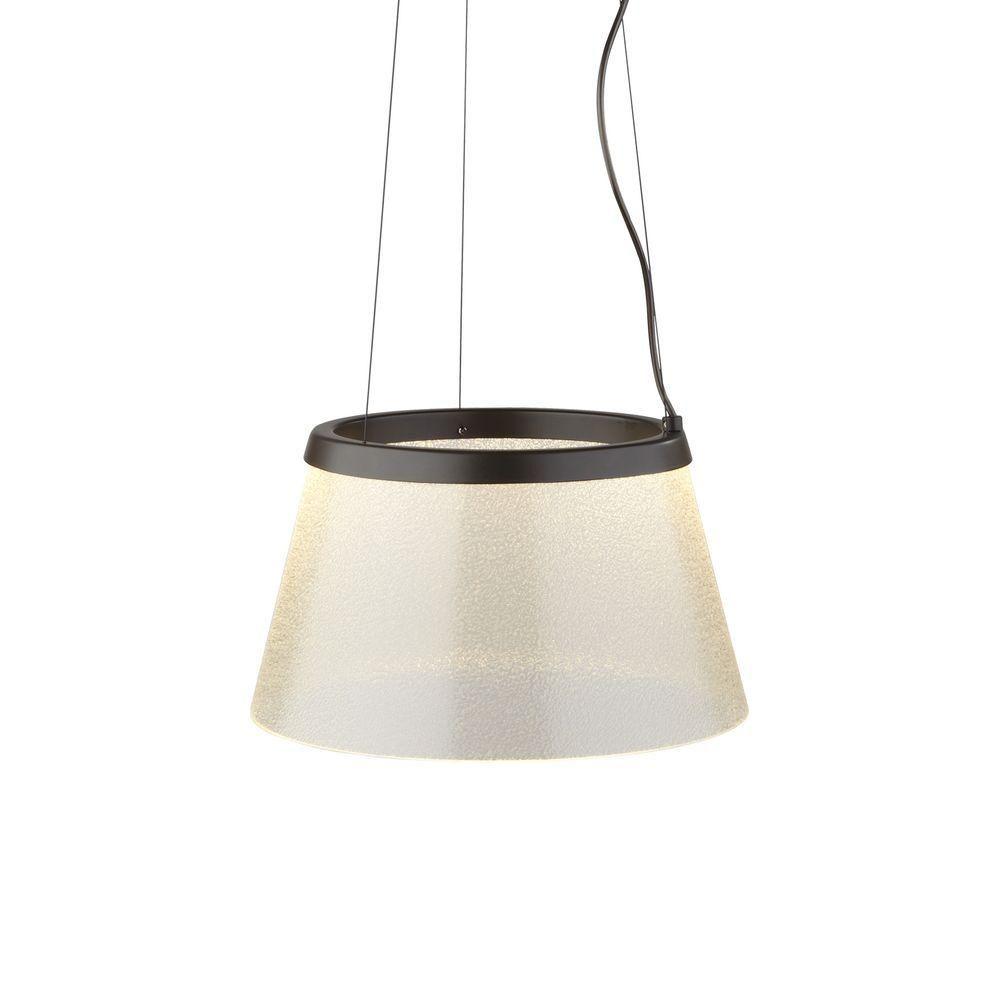 c0fc3a94eeaf LBL Lighting Duke 1-Light Bronze Clear LED Hanging Pendant with Fizz  Suspension