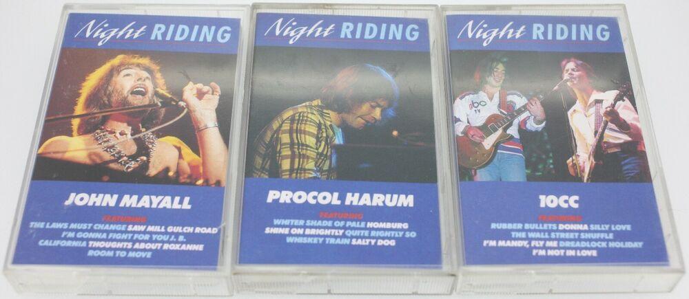 3 Rare Night Riding Albums Bundle 10cc Procol Harum John Mayall Free Post Europe Bluesrockprogressiveartrock