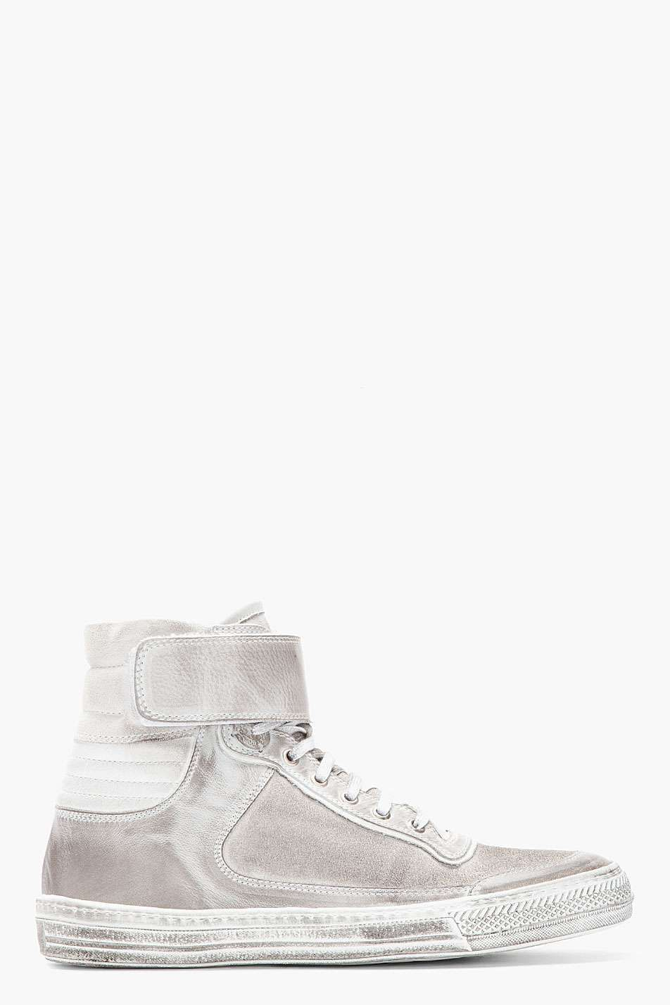 eb34797ff5b0 Diesel Black Gold Silver leather Jorge high-top sneakers